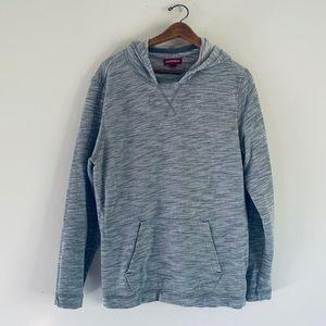 Unionbay Knitter Gray/Silver Mens Hoodie!!